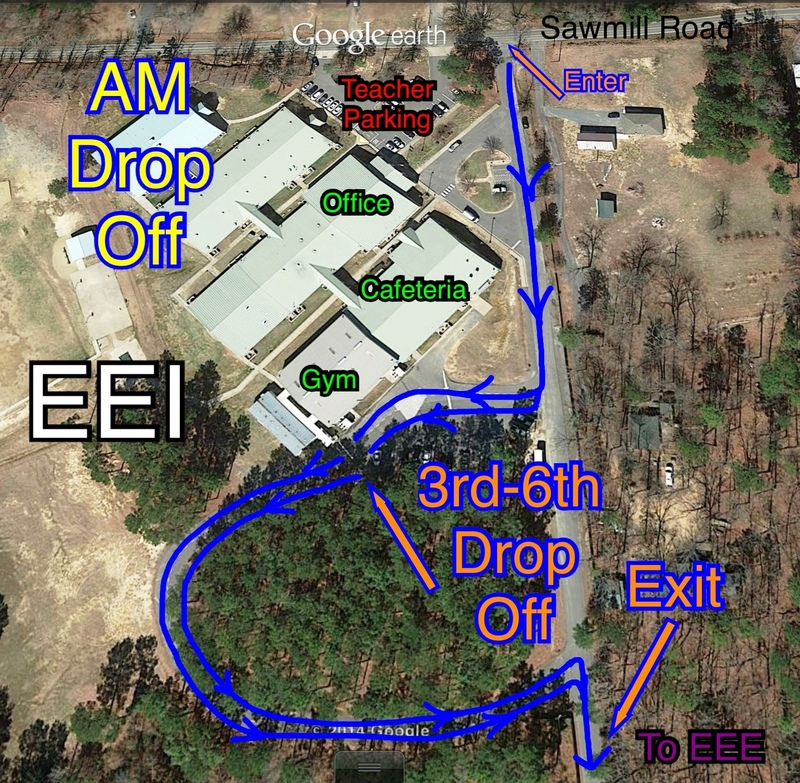 This Map Shows the EEI Morning Drop Off Route