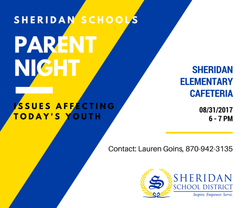 SSD to Host Parent Night on Aug. 31