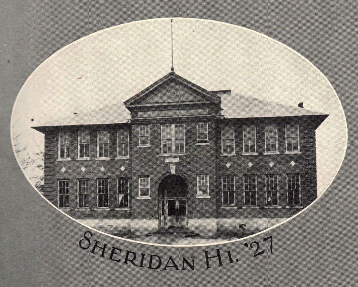 #ThrowbackThursday - Sheridan High School Building in 1927