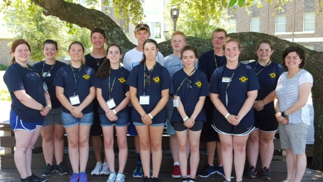 Twelve Sheridan Band Students Attend Commerce Leadership Camp